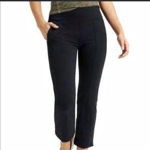 Athleta Kick Flare Metro Crop Pants Black Sz Large